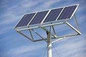 stock photo of production  - Photovoltaic panel for renewable energy production - JPG