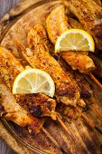 foto of marinade  - Grilled chicken skewers with lemon marinade - JPG