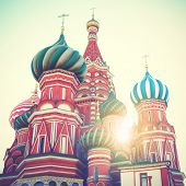 picture of masterpiece  - Cathedral on Red Square in Moscow - JPG