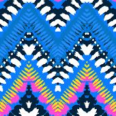 image of zigzag  - Striped hand painted vector seamless pattern with ethnic and tribal motifs - JPG