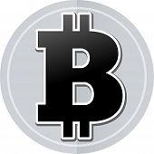 foto of bitcoin  - Illustration of bitcoin sticker icon simple design - JPG