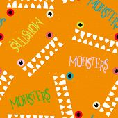 pic of monsters  - Decorative pattern monsters - JPG