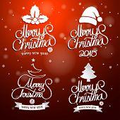 stock photo of merry christmas text  - Christmas text - JPG