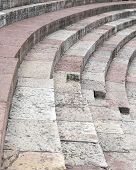 picture of arena  - detail of the ancient limestone steps of Roman Arena di Verona in Italy - JPG