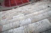 pic of arena  - ancient Roman STEPS in the Arena di Verona in Italy made with limestone - JPG