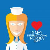 picture of nightingale  - International nurse day concept with illustration of a cartoon beautiful nurse - JPG