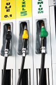 foto of fuel economy  - Fuel pump on the GAS station  - JPG