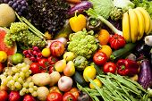 pic of vegetable food fruit  - Assortment of fruits and vegetables Nutritious and healthy food - JPG