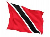 pic of waving  - Waving flag of trinidad and tobago isolated on white - JPG