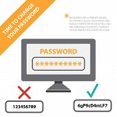 pic of computer hacker  - password for your account in social networking in computer vector template - JPG