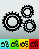 image of rework  - Gear gearwheel background in 5 colors to match your design - JPG