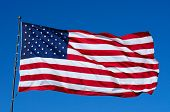 pic of glory  - Old glory is proudly waving in the wind - JPG