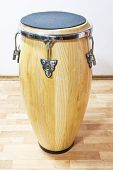 image of timpani  - big drum on table and white wall - JPG