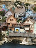 picture of popeye  - old wooden fishing village houses and dwellings - JPG