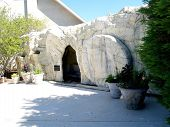 image of empty tomb  - Replica of tomb of Jesus Christ - JPG