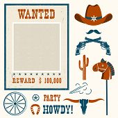Wanted Poster For Cowboy Party . poster