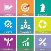 Business Teamwork Team Hard Work Concept. Vector Illustration poster