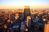 stock photo of prudential center  - A sweeping view of downtown Boston - JPG