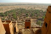 picture of dogon  - An overview of a Dogon village through mud dwellings in Mali - JPG