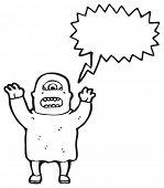 picture of ogre  - cartoon screaming ogre - JPG