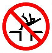 Injury Hazard Fall Hazard Symbol Sign, Vector Illustration, Isolate On White Background Label .eps10 poster