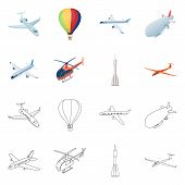 Isolated Object Of Transport And Object Logo. Collection Of Transport And Gliding Stock Symbol For W poster