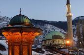 Sarajevo landmarks poster