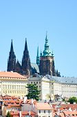 Vertical Photo Of Famous Prague Castle And St. Vitus Cathedral In Prague, The Capital Of Czech Repub poster