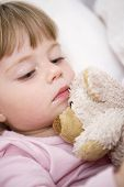image of goodnight  - Baby Girl in her bed at home - JPG