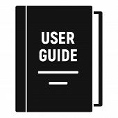 User Guide Icon. Simple Illustration Of User Guide Vector Icon For Web Design Isolated On White Back poster