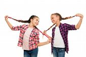 Dye Hair Fun Colors. Keep Hair Braided For Tidy Look. Pupils With Long Braided Hair. Hairdresser Sal poster