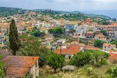 Cityscape Of Town, Village, Greece. Village In The Mountains. Greek Old City, Down Town. View Of Kim poster