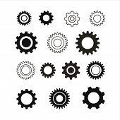 Set Of Gear Icon, Gear Icon Eps10, Gear Icon Vector, Gear Icon Image, Gear Icon Vector Design Illust poster
