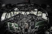 picture of gage  - Inside of airplane cockpit - JPG