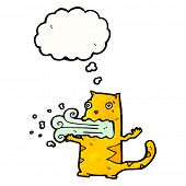 picture of belching  - cartoon cat belching - JPG