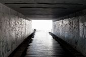 stock photo of underpass  - underpass in the subway - JPG
