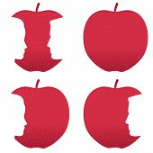 pic of garden eden  - Male and female profiles bitten out of a red apple - JPG