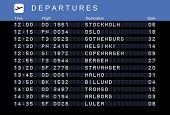stock photo of tromso  - Departure board  - JPG