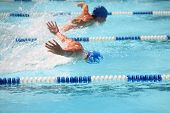 image of swim meet  - Butterfly race - JPG