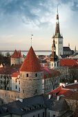 stock photo of olaf  - Old town of Tallinn - JPG
