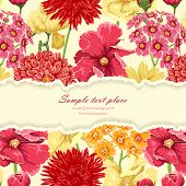 stock photo of tears  - Floral background with tear paper - JPG
