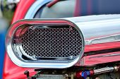 foto of dragster  - Detail of air intake on custom car - JPG