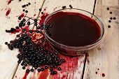 picture of elderberry  - Alternative medicine fresh health fruit black elderberry - JPG