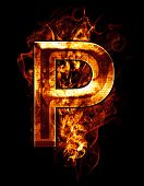 stock photo of letter p  - p - JPG