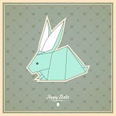 Happy Easter Cards  With Origami  Bunny