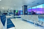 VALENCIA, SPAIN - JANUARY 14, 2014: Departures area of International Airport of Valencia - 8th busie