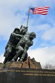 WASHINGTON, DC - FEBRUARY 26, 2014: Iwo Jima Memorial in Washington, DC. The Memorial honors the Mar