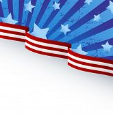 USA flag theme background with place for your copy\text. Raster version.