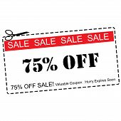 Seventy Five Percent Off Sale Coupon