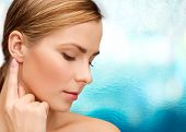 stock photo of facial piercings  - health and beauty concept  - JPG